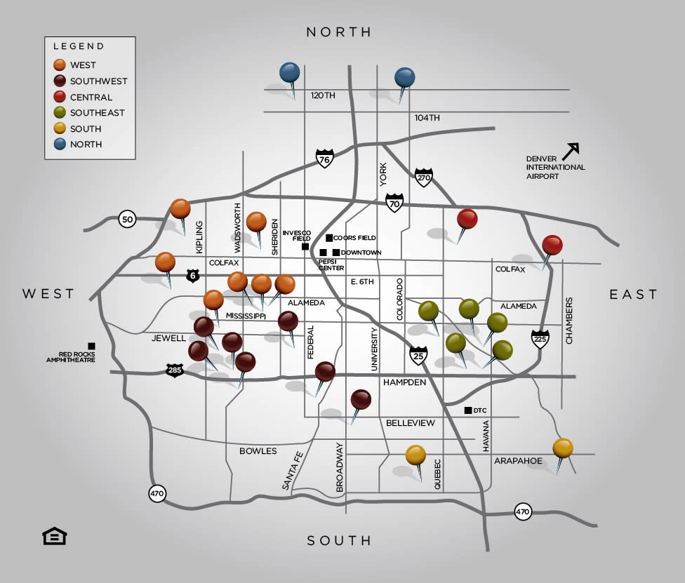Map of Denver properties