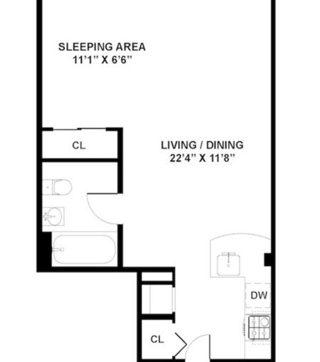 Apartments on new york city 39 s upper east side renoir house for Studio apartment floor plans pdf