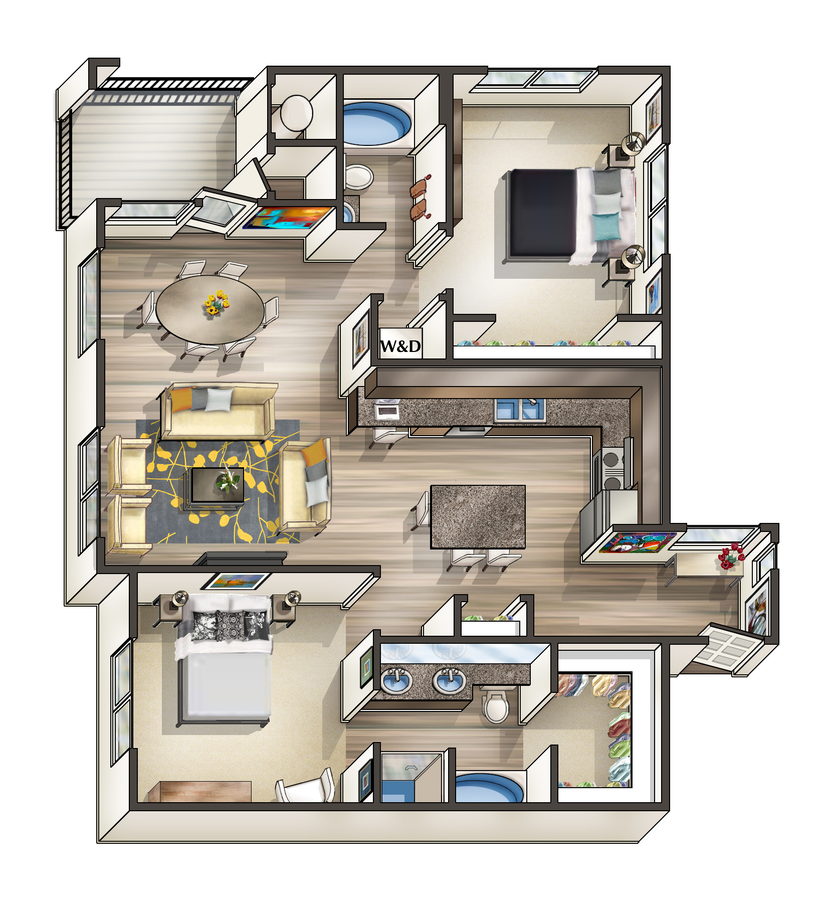 Studio apartment floor plans 400 sq ft for Studio floor