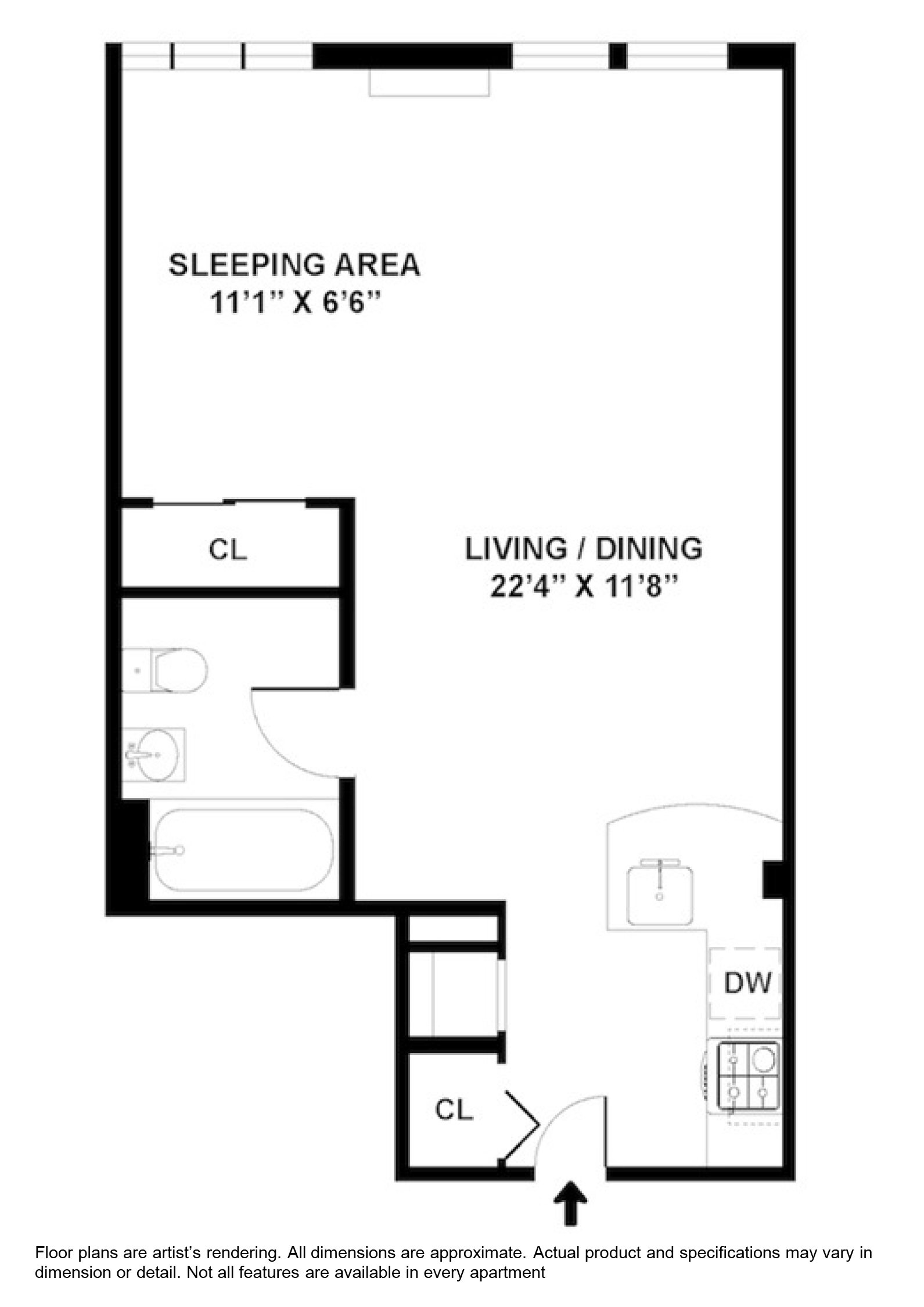 Studio Apartment Floor Plan apartments on new york city's upper east side - renoir house