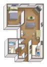 The Rock Creek floorplan graphic