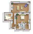 The Pierce Mill floorplan graphic