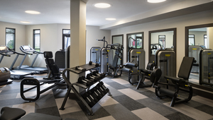 Modern fitness center with state-of-the-are equipment
